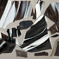 C680 - Black / White Streaky Confetti