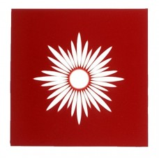 Red Brilliant Cut Square - 127mm