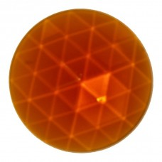 50mm Round Amber Faceted Jewel