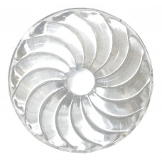 RON100S - Clear Swirled Rondel - 50mm
