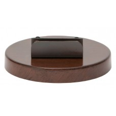 Round Wooden Effect Metal Base - Un-wired
