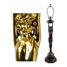 Large Deco Figure - Polished Brass