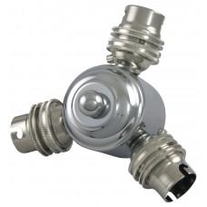 3 Bulb Fitting - Chrome