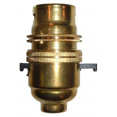 BC Switched Bulb Holder - Brass