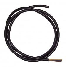 3 Core (0.75) Black Cable - 1 Metre