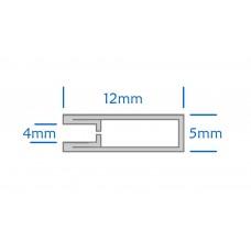 Zinc U Section Came - 12 x 5mm - 2 Metres